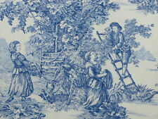 SONDERPREIS Tischläufer Toile de Jouy blaues romantisches Muster 48 x 150