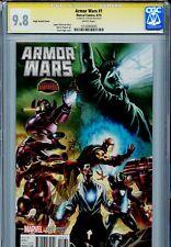 Armor Wars 1 CGC 9.8 SS Pugh variant Stan Lee Iron Man Avengers 1 of 3 on census