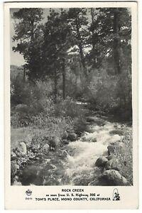 Vintage 1947 RPPC Rock Creek TOM'S PLACE MONO COUNTY CALIFORNIA Hwy 395 BISHOP