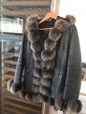 Authentic Fur Leather Coat /Jacket  By Michaela Fur