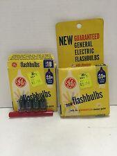 Vintage General Electric New Flashbulbs AG1B Blue Bulbs with Rhenium Igniter-Box