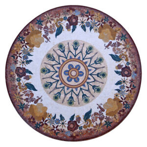 "MD031, 70.87"" Flowers Medallion Pattern Handmade Marble Mosaic Tile"