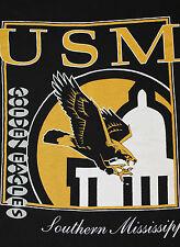 M * vtg 80s/90s Usm Golden Eagles southern mississppi t shirt * 40.79