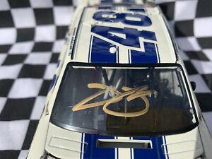 2012 Jimmie Johnson 1/24 Elite White Dover Autographed