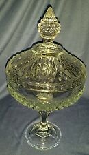 Pasabache Clear Glass Candy Dish Jar With Lid & Pedestal
