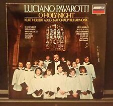 "LUCIANO PAVAROTTI | O holy night | Gesu bambino | LP 12"" 33 RPM VG+ Lyric Insert"