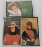 Lot of 3 Reba McEntire Cassette Tapes-80's Classic Country-Sweet Sixteen-Rumor