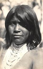 CHACO, ARGENTINA ~ INDIAN WOMAN WITH JEWELRY, REAL PHOTO PC ~ c 1910-20's