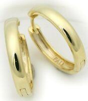 Neu Damen Ohrringe Klapp Creolen Gold 333 8 karat gewölbt schwer 19 mm Gelbgold