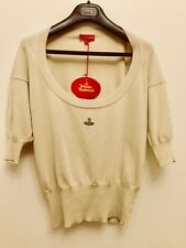 Vivienne Westwood Red Label Scoop Neck knit orb Vest Top jumper size L (UK12-14)