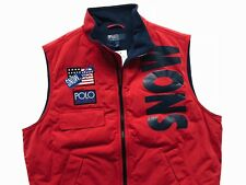 RALPH LAUREN POLO [SZ L] SNOW BEACH VEST RED 1993 PULLOVER STADIUM P WING RUGBY