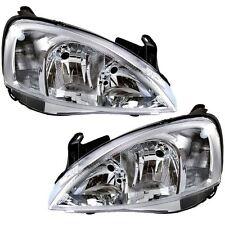 Vauxhall Corsa C Mk2 2000-2003 Headlights 1 Pair O/S And N/S