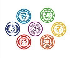 7 grandes símbolos de Reiki Chakra Curación Meditación ~ Pegatinas de pared Calcomanías Mandala