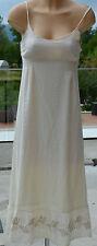 LA FÉE MARABOUTÉE Magnifique robe longue beige doublée TAILLE 36  EXCELLENT ÉTAT