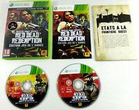 Jeu XBOX 360 VF  Red Dead Redemption Edition Jeu de l annee avec notice et carte