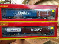 Hornby R6849 and R6850 KFA TIPH 93423 and 93455 container train pack BNIB