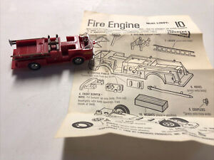VINTAGE LINDBERG MINI-LINDY Built Fire Truck With Instructions