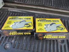 Lot of Two Pricing Guns Label 2 Line W-41