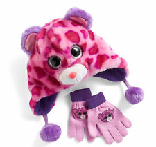 TY Beanie Boos Faux-Fur Plush 3D Leopard Hat & Gloves Set - Girls 4-16 - NEW