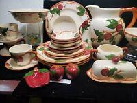 RARE - Franciscan Ceramics Complete Set Apple (American Backstamp)& new