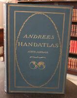 Ambrosius Andrees Allgemeiner Handatlas + Namensverzeichnis 1930 Geografie sf