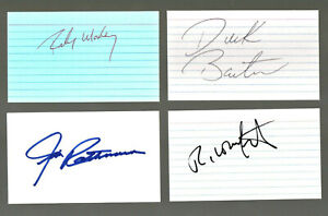 NASCAR 40 authentic autographed index card lot NO RESERVE