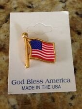 America Flag Patriotic Lapel Pins Made Usa Lot of 10 Flag Lapel Pins God Bless