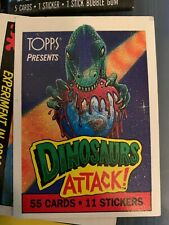 1988 Topps DINOSAURS ATTACK Complete SET 55/11/3 Cards stickers wrappers