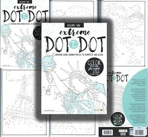 Adult Extreme Dot to Dot Coloring Book Stress Relief Relaxation Clean