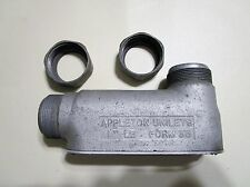 """Appleton Unilets  1"""" LB Form 35 Conduit Body w/Cover and Fitting Nuts"""