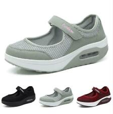 Platform Womens Breathable Sneakers Shoes Wedge Cushion Running Casual Strap