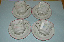 CHURCHILL CHARTWELL COLLECTION MILLE FLEUR CUP AND SAUCER X 4