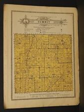 Minnesota Steele County map Summit Township 1914 W4#81