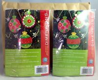 2 Packs- Simple Cheer - Felt Applique Christmas Ornaments Kits By Dimensions NEW