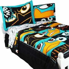 NEW Disney Phineas and Ferb FULL Reversible Comforter Set + Sheets Penguins