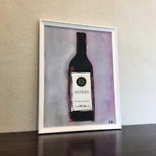 Sassicaia Vino Pop Art Kunst Acryl Urban Bild Gastronomie Rotwein St. Bam Vin
