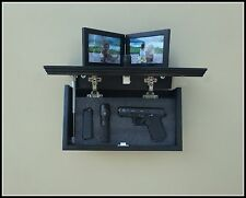 "18"" Oak  Hidden Compartment Tactical Gun Concealment Shelf"