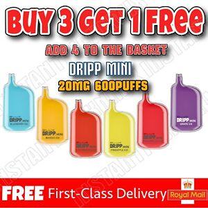 DRIPP Elux 600 Puff disposable Pen nic salt E liquid Vape Juice 20MG 500 mAh Cig