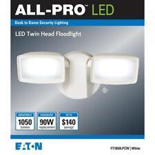 All-Pro FT1850LPCW Dusk to Dawn LED Outdoor Flood Light, White, 1050 Lumens
