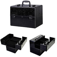 "Pro 14"" Makeup Aluminum Storage Case Organizer Box Cosmetic Lockable Jewelry Bag"