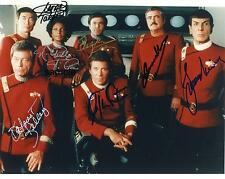 STAR TREK CAST 2 REPRINT 8X10 AUTOGRAPHED SIGNED PHOTO PICTURE WILLIAM SHATNER