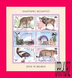 BELARUS 2013 Nature Fauna Wild Animals Bird Tiger Eagle Leopard Mouflon s-s MNH