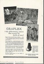 1927 GRAFLEX advertisement, Series B camera, African hunting photos