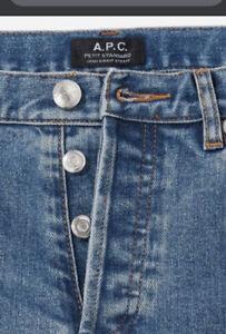 $225 APC A.P.C. PETIT NEW STANDARD Slim Stretch Button Fly Jeans-29 x 27 inseam