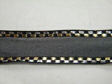 5m ruban bolduc gainé  noir 2.cm largeur neuf scrapbooking mercerie fleur lot 34