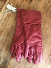 Bnwt Ladies Per Una Red Leather Gloves Size S-m