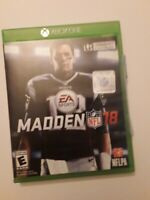 Madden NFL 18 Microsoft Xbox One, 2017 Instruction Manual and Box Included