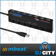 mBeat 7-Port USB Hub Supports USB 3.0 and USB 2.0 Fast Charge with Hot Swap