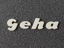 Geha Schriftzug  - Firmenzeichen - Logo - 60er - Umdrucker