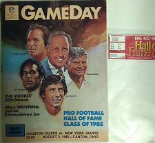 85 NFL HOF Induction-Namath, Staubach, Simpson Rozelle Pgms, Stub& 10 Autographs
